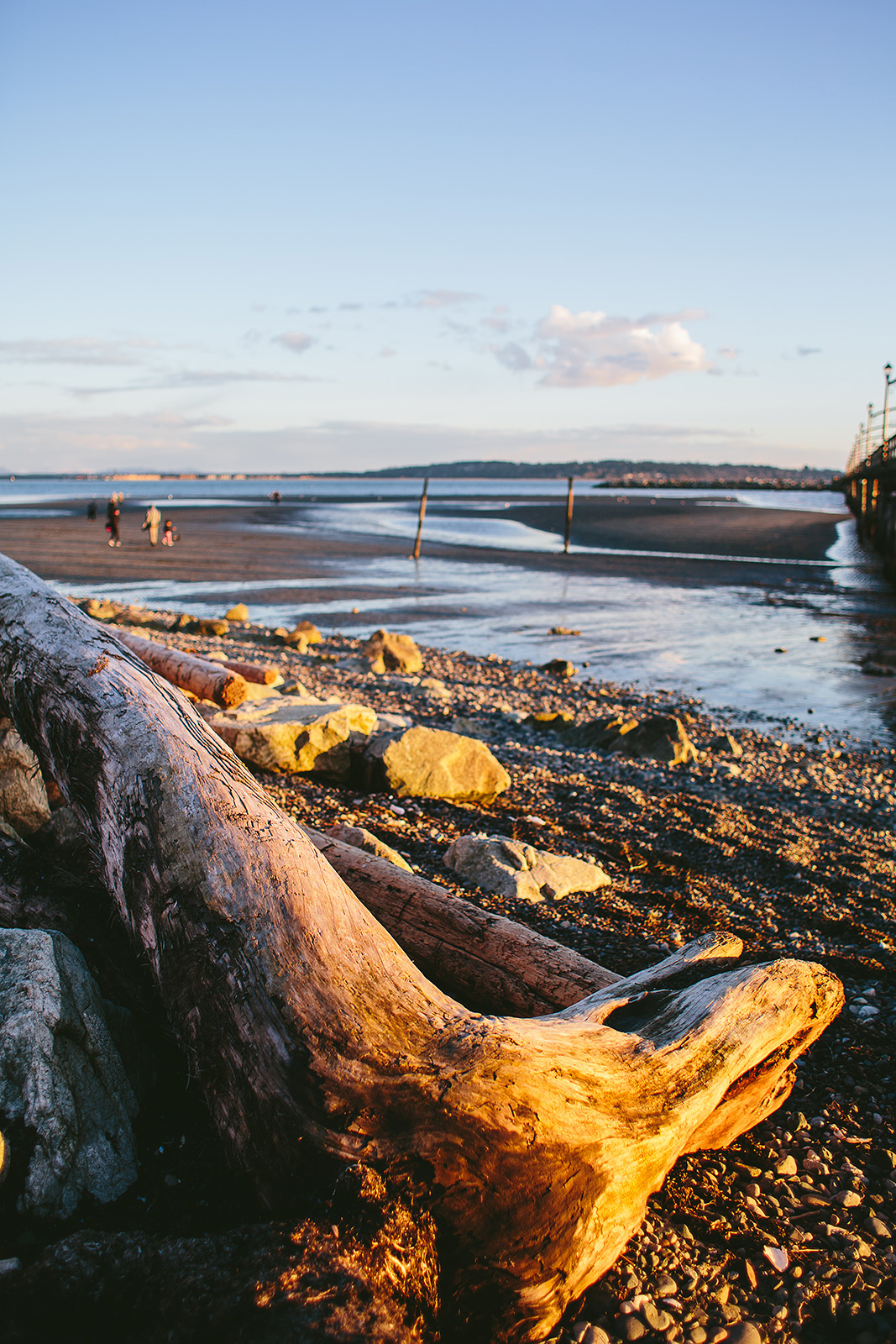 White Rock Beach Sunset