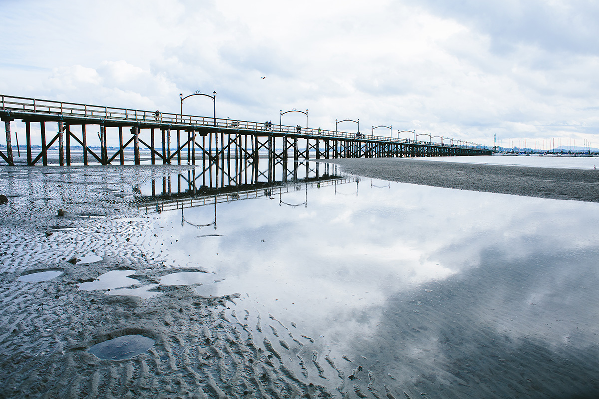 Reflections of White Rock Pier