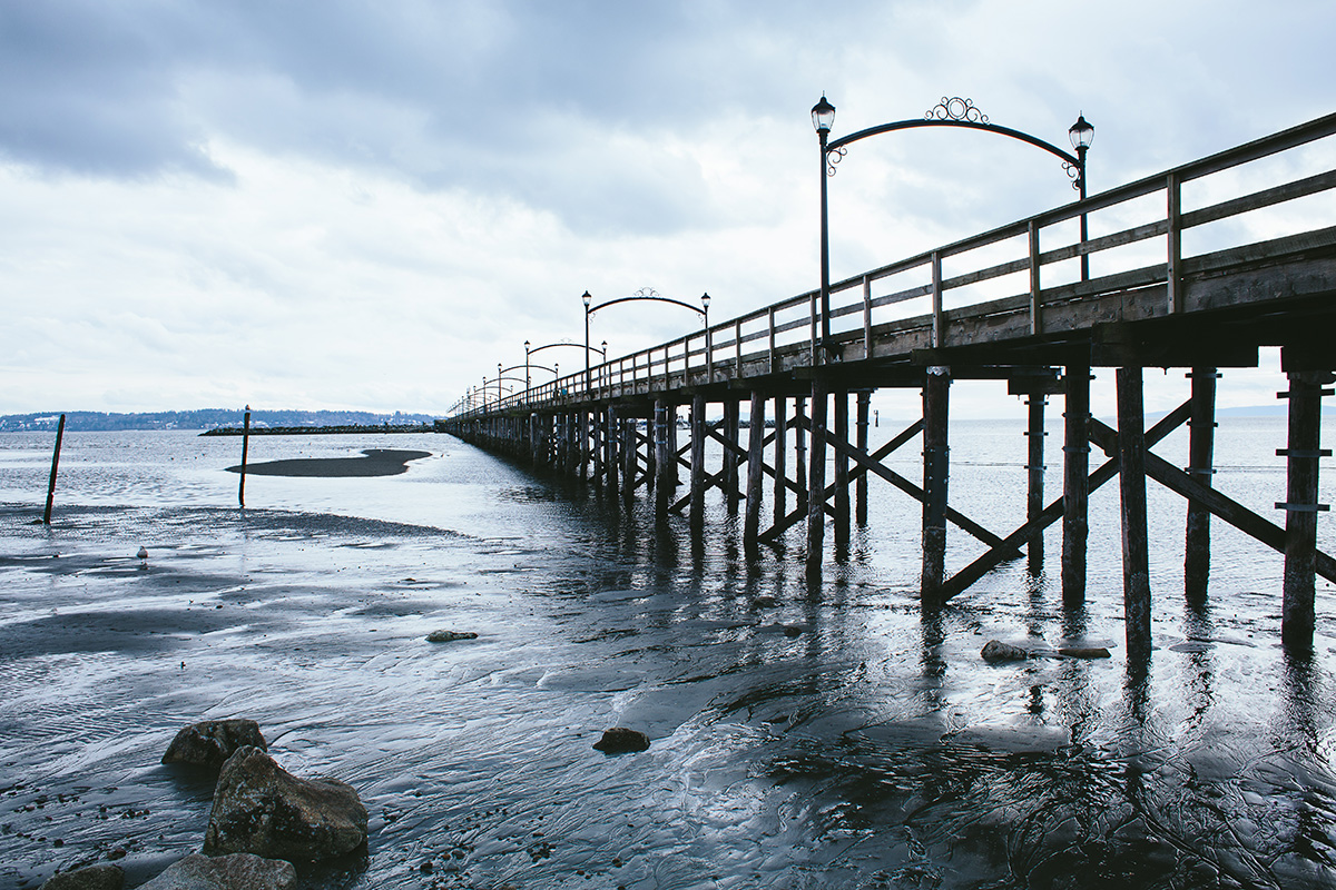 White Rock Pier in the Winter